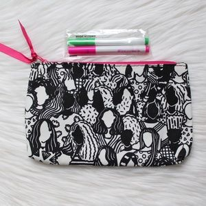 NWOT Ipsy Cosmetics Bag Coloring Book Inspired